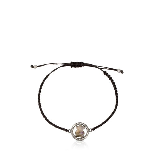 Camille Bracelet in Silver with Labradorite and Diamonds.