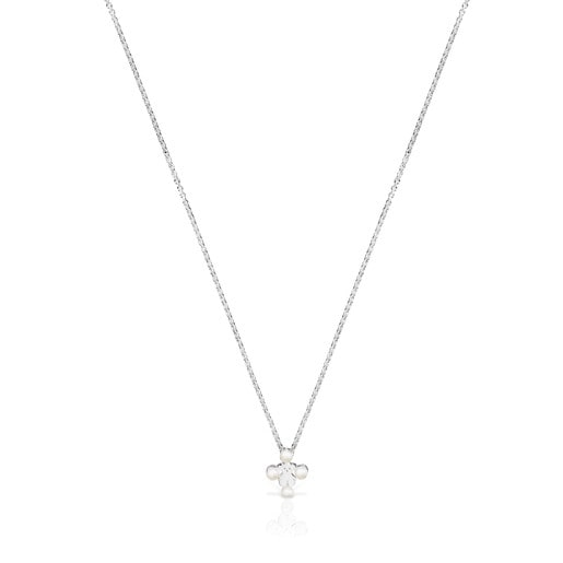 Silver Real Sisy Necklace with Pearls