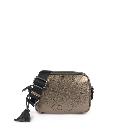 Small leather gun Leissa crossbody bag
