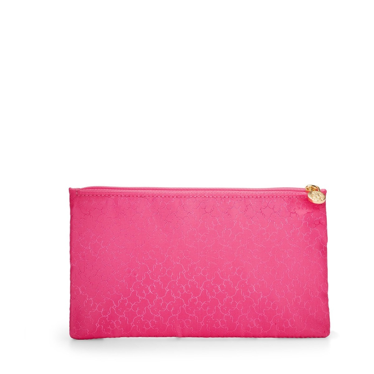 Large fuchsia Nylon Clasica Toiletry bag