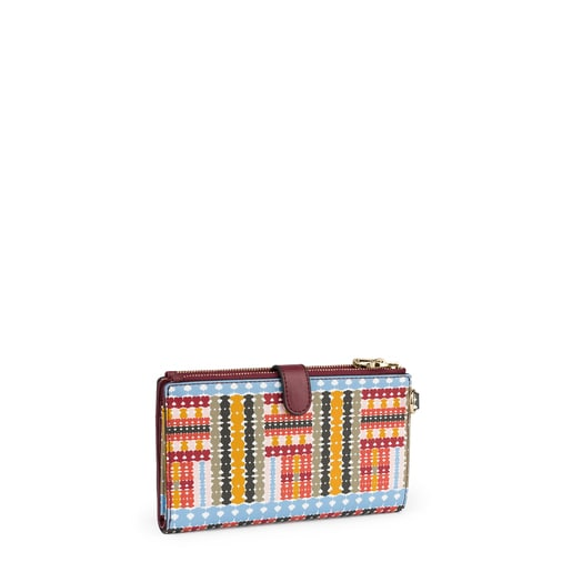 Multi-burgundy Alicya Wallet-clutch bag