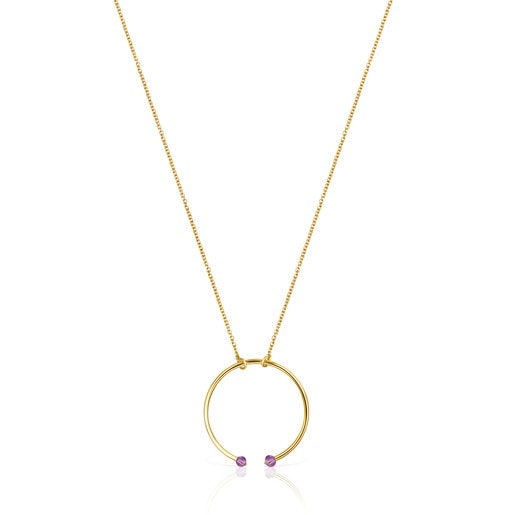 Batala Necklace in Silver Vermeil with Amethyst