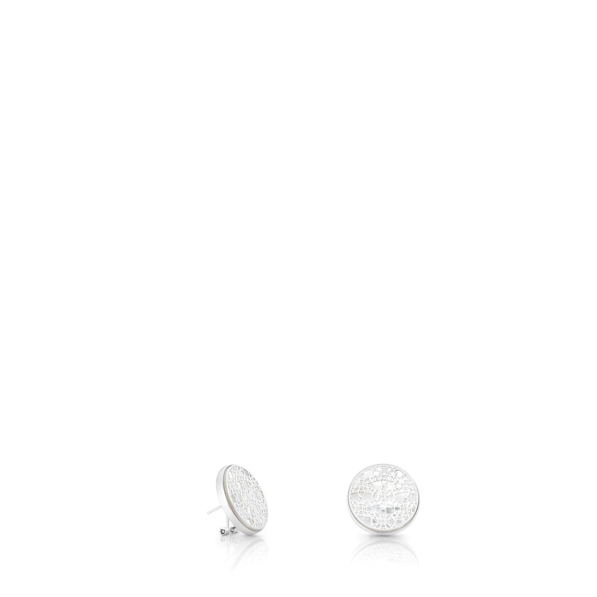 Silver Chantilly Earrings with Mother of Pearl