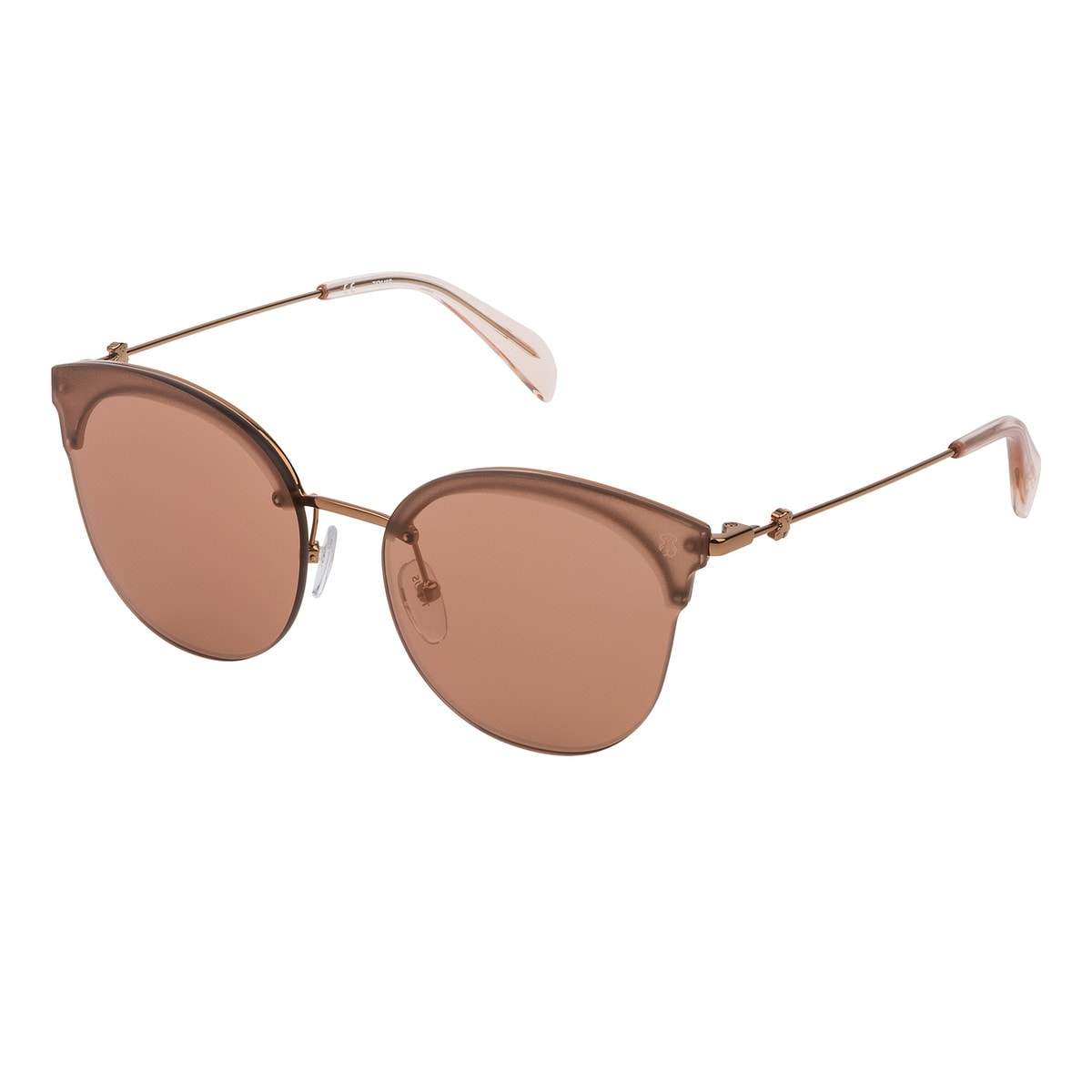 Rose Gold Metal Metal Matte Sunglasses