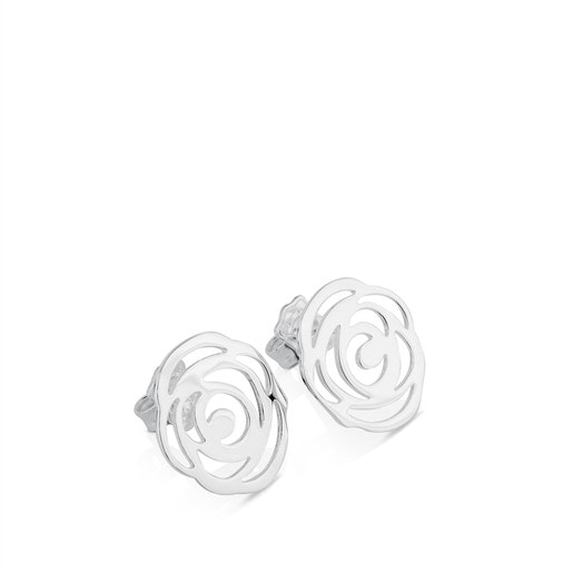Silver Rosa d'Abril Earrings