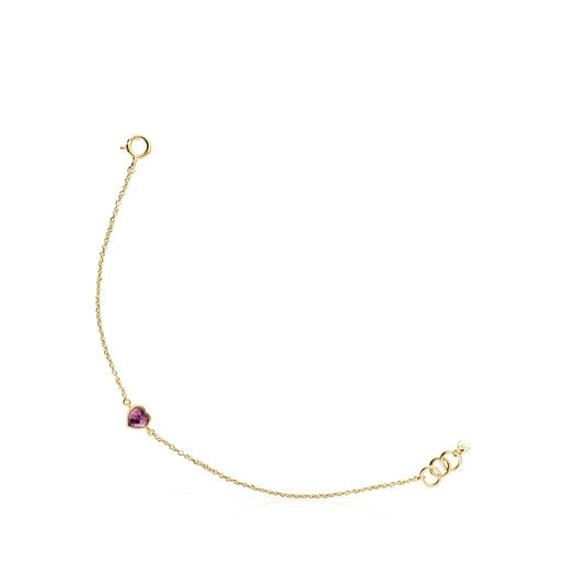 Gold and Amethyst Glory Bracelet