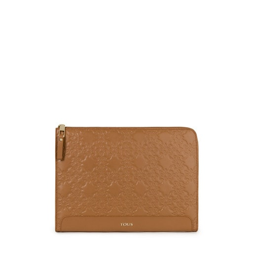 Natural colored Leather Mossaic Document Holder