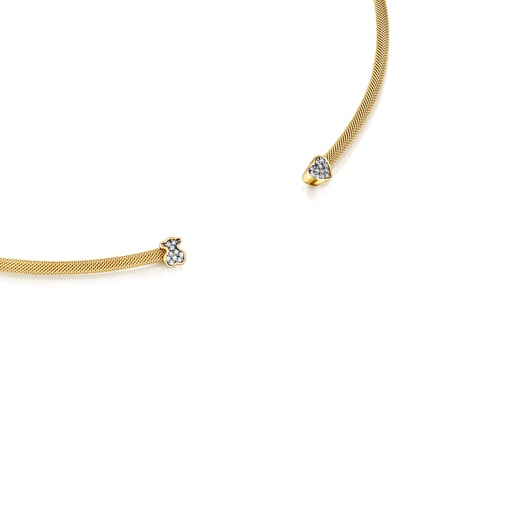Nocturne Necklace in Silver Vermeil with Diamonds