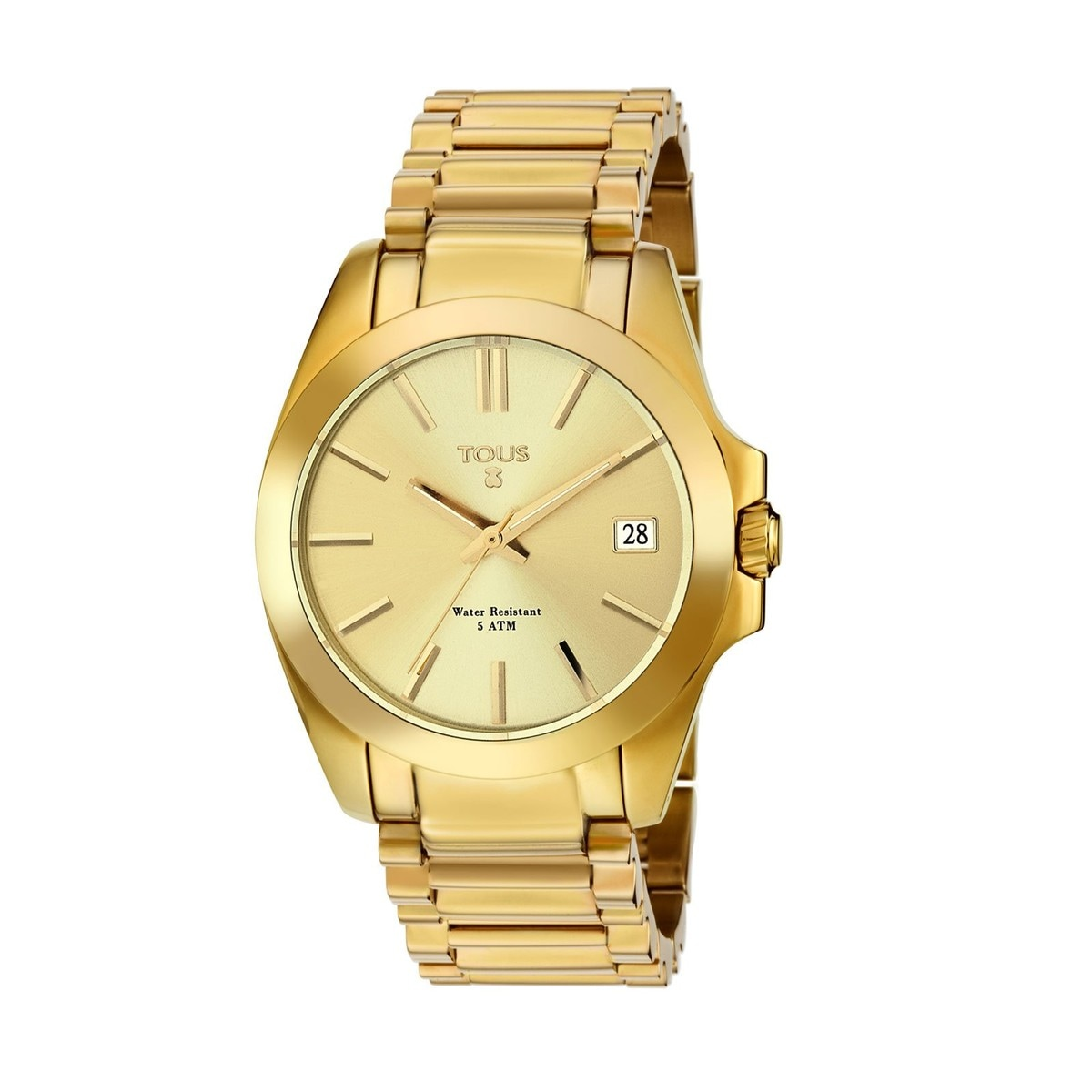 Gold IP Steel Drive Watch