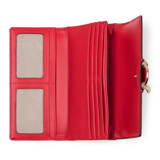 Medium red Hold Wallet