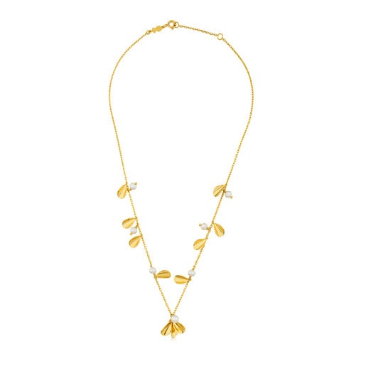 Vermeil Silver Happy Moments Necklace with Pearl
