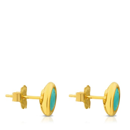 Vermeil Silver Alecia Earrings with Amazonite