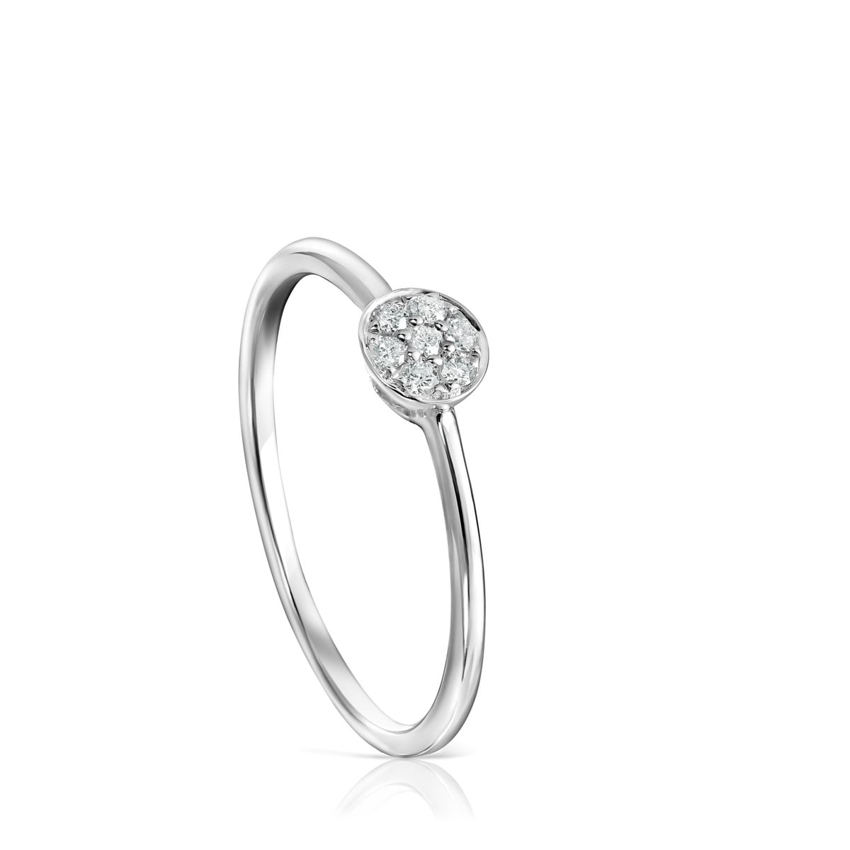 White Gold with Diamonds Alecia Ring