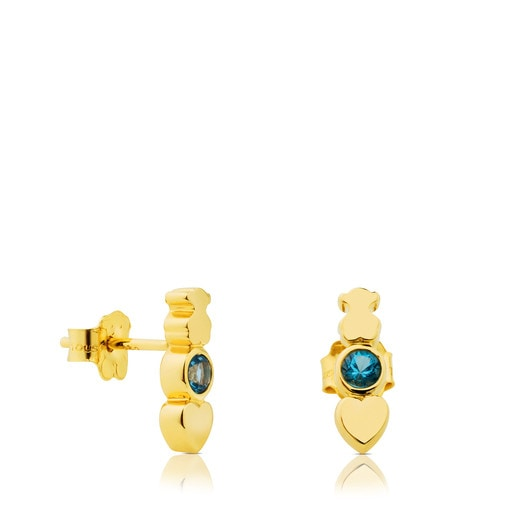 Gold View Earrings with Topaz