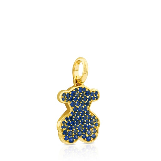 Gold Icon Pendant with Sapphire