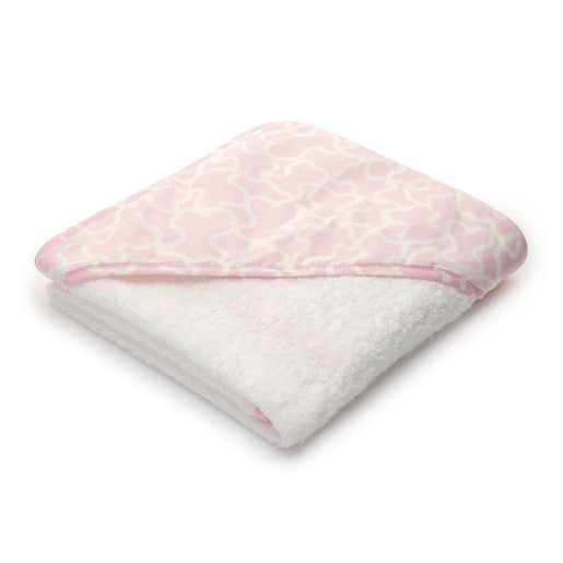 Kaos bath sheet in pink