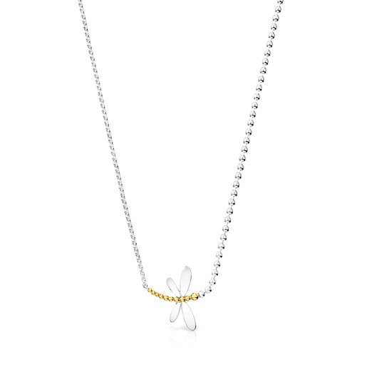 Silver and Silver Vermeil Real Mix Bera Necklace
