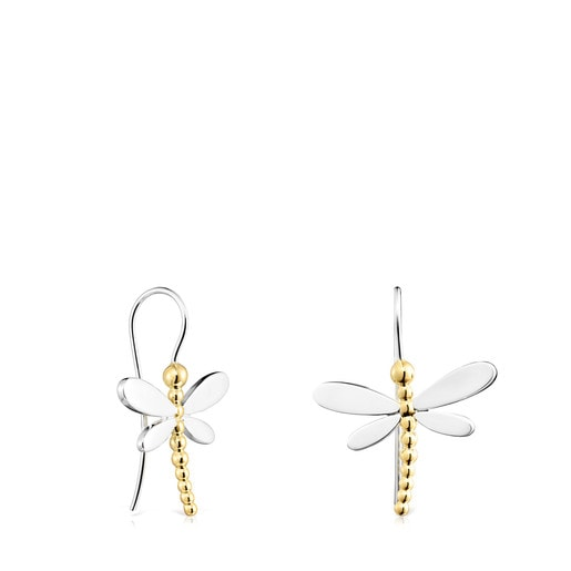 Short Silver and Silver Vermeil Real Mix Bera Earrings