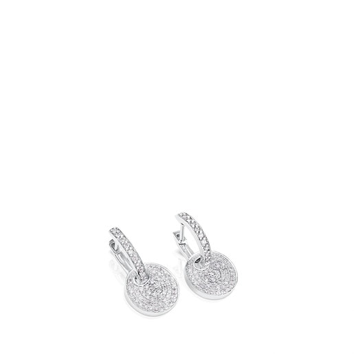 White Gold TOUS Diamond Earrings with Diamond