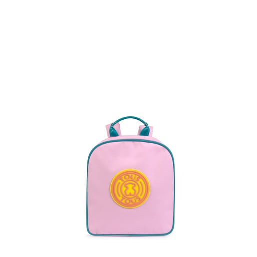 Morral mini School rosa multi