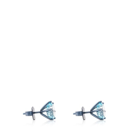 Titanium Sisy Earrings with Topaz