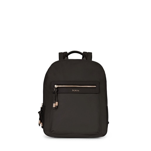 Black colored Canvas Brunock Chain Backpack