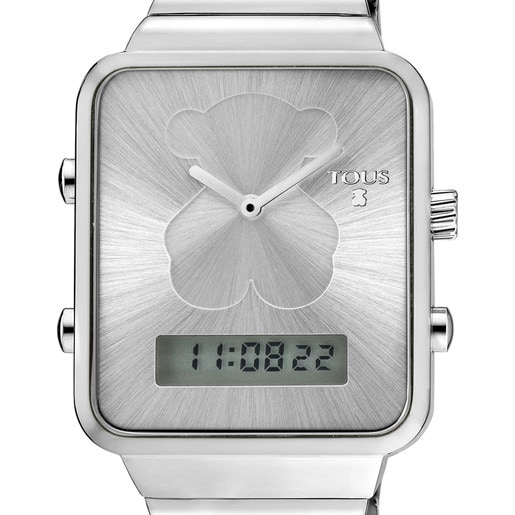 Steel I-Bear Digital watch