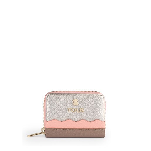 Medium silver-pink colored Carlata Change purse
