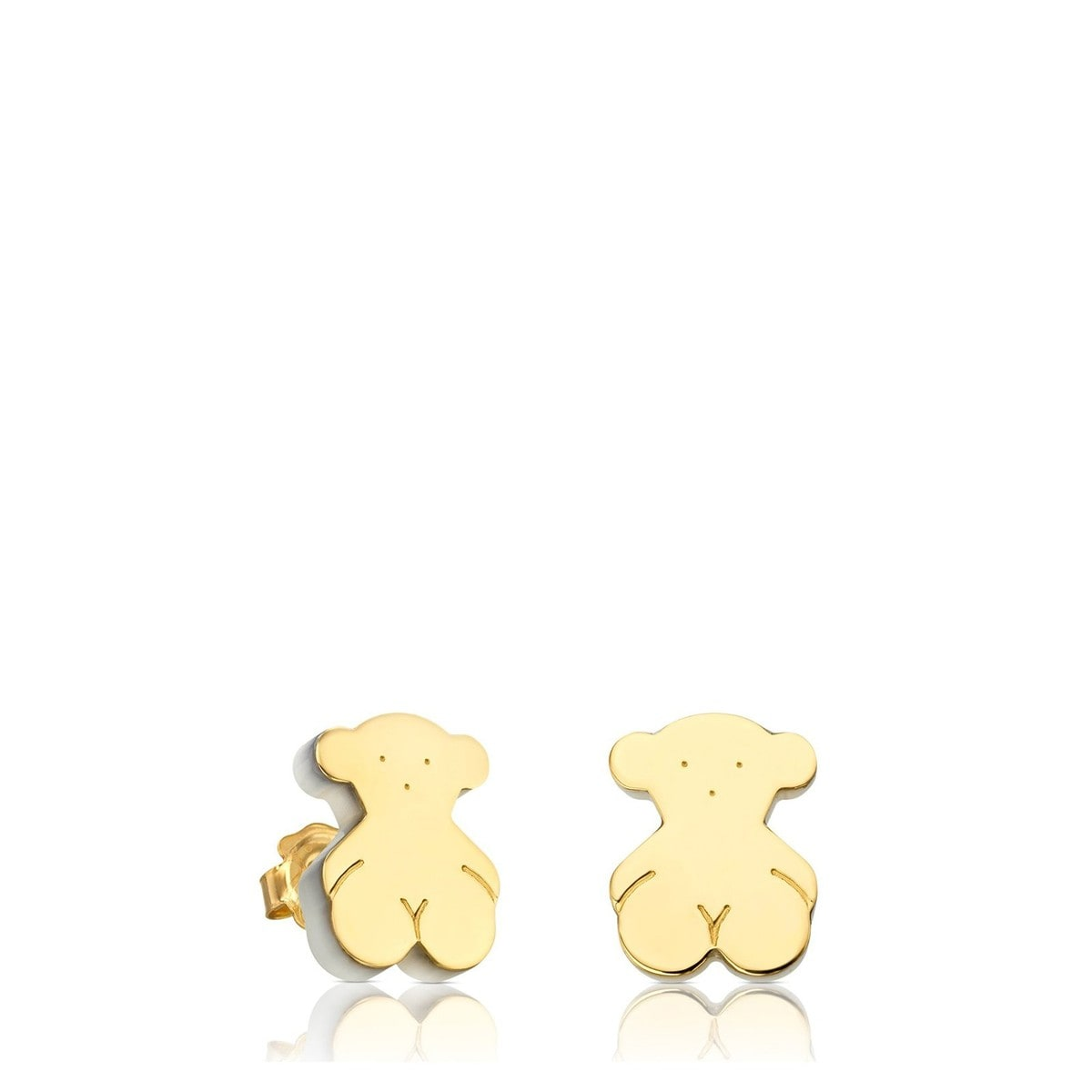 Gold Sandwich Earrings with Mother of Pearl