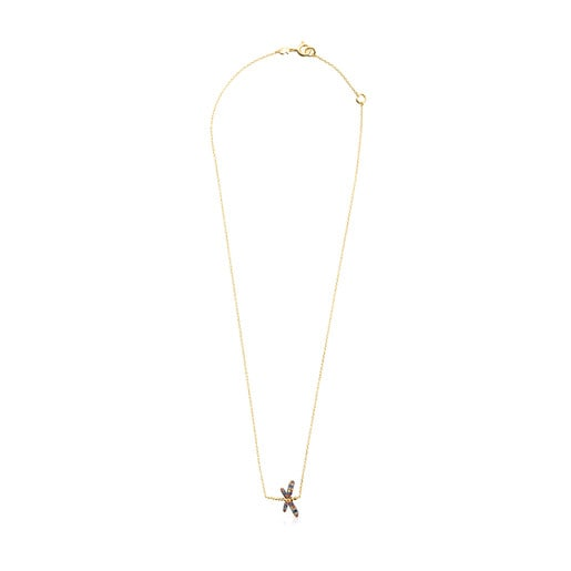 Collier Real Mix Bera en Or Vermeil avec Saphirs