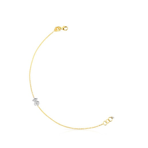 Gold Icon Gems Bracelet with Diamonds
