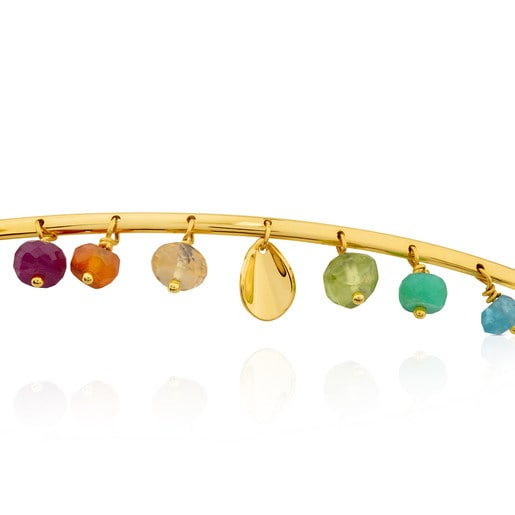Pulsera Happy Moments de Oro con Gemas