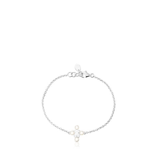 Silver Real Sisy Bracelet with Pearls