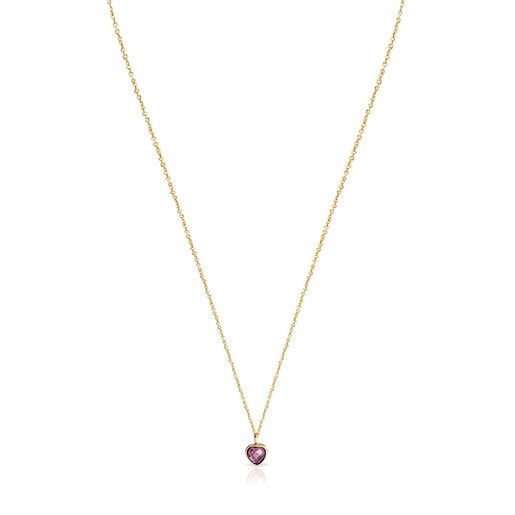 Gold and Amethyst Glory Necklace