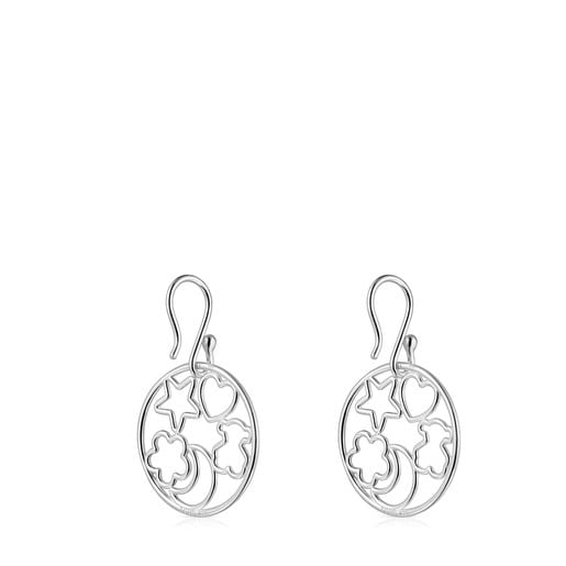 Short Silver Silueta Earrings