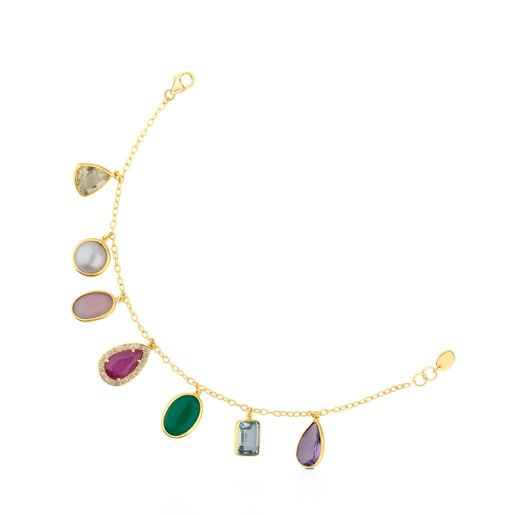 Pulsera Gem Power de Oro con Gemas y Diamantes