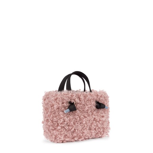 Small pink Amaya Warm shopping bag