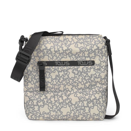 Beige-gray Kaos Mini Sport Flat Crossbody bag
