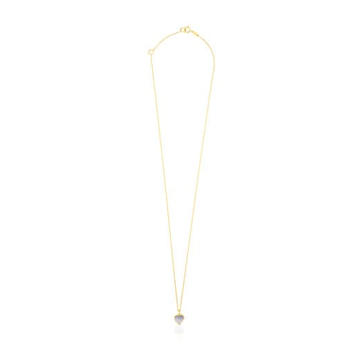 Gold and Mother-of-pearl XXS heart Necklace