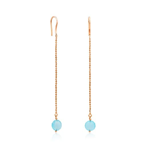 Gold Casualidad Earrings with Chalcedony
