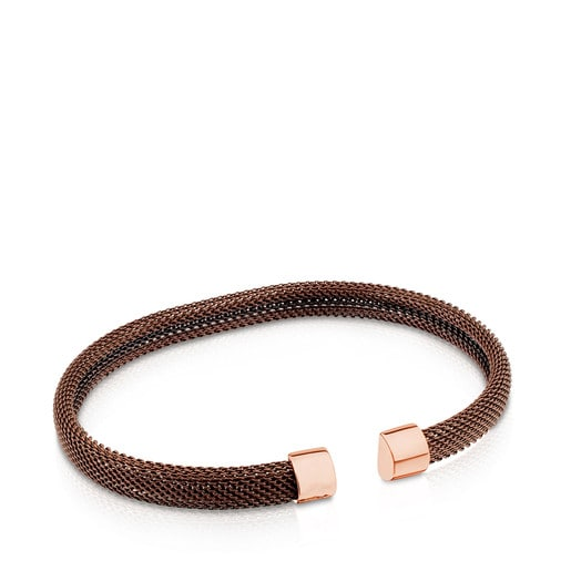Brown and rose IP Steel TOUS Man Bracelet