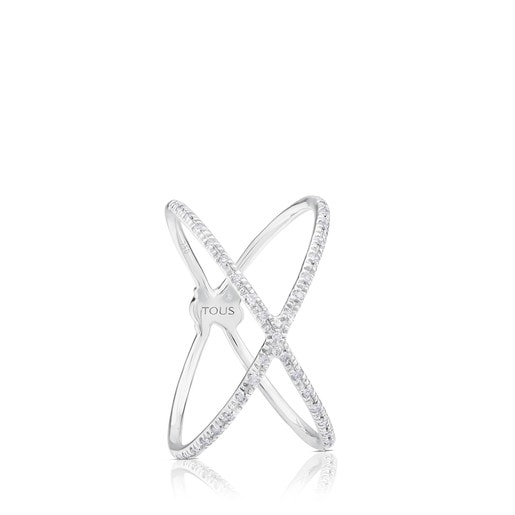 White Gold TOUS Diamond Ring with Diamond