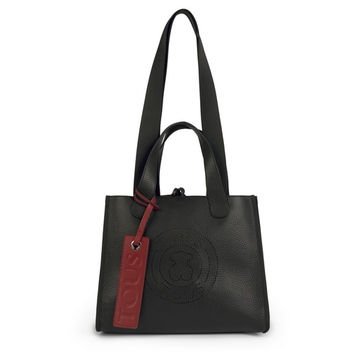 Medium leather black Leissa tote bag