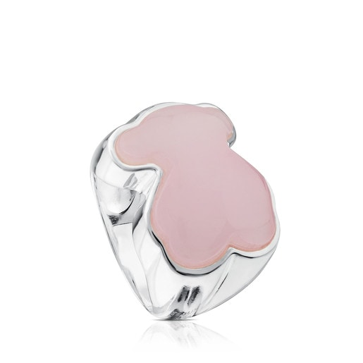 Silver New Color ring with Quartzite
