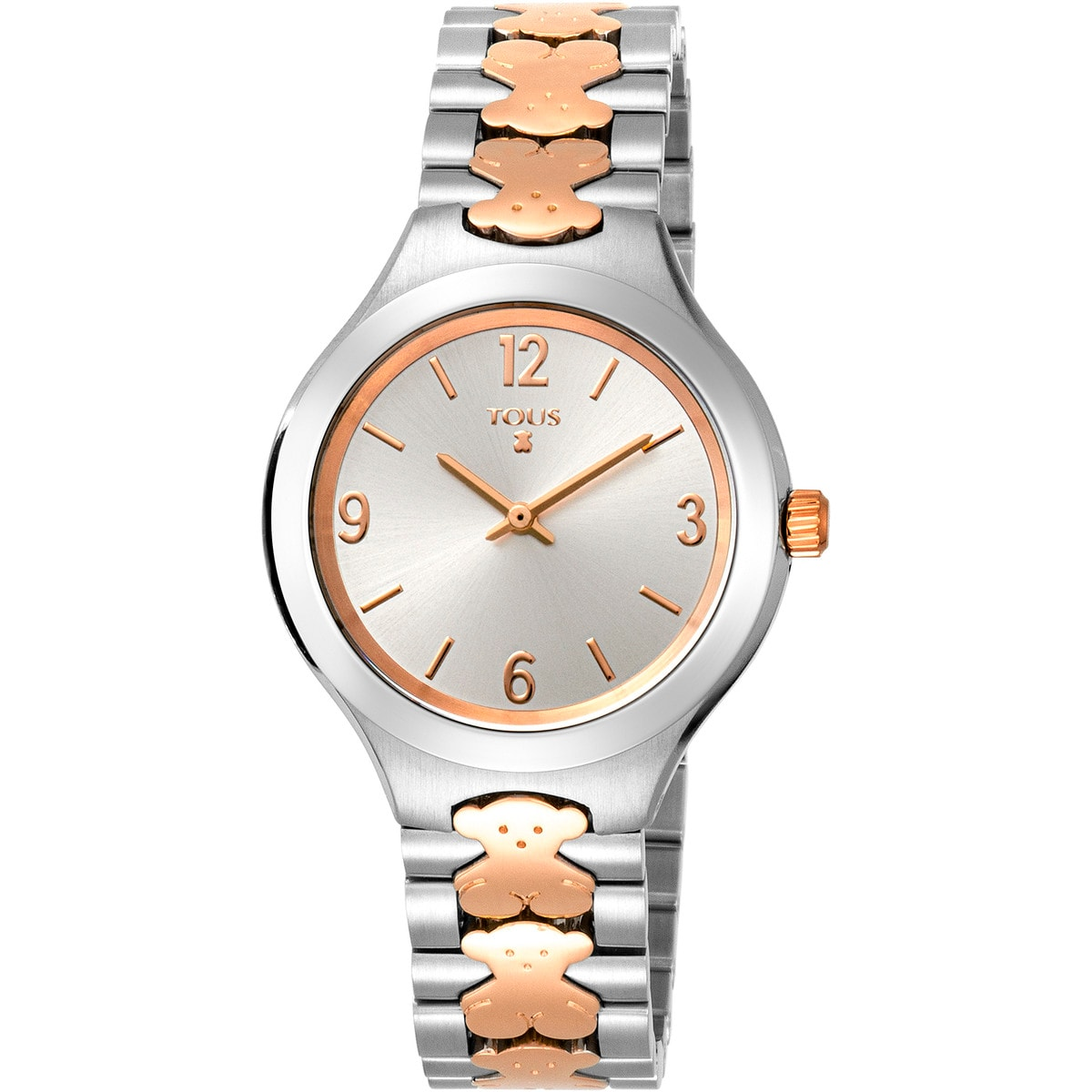 Two-tone pink IP/Steel New Praga Watch