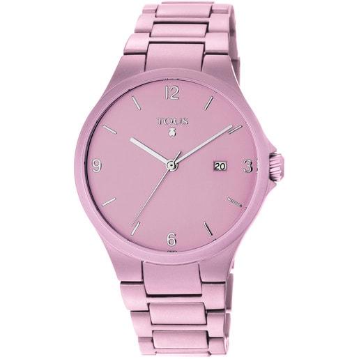 Pink anodized aluminum Motion Aluminio Watch
