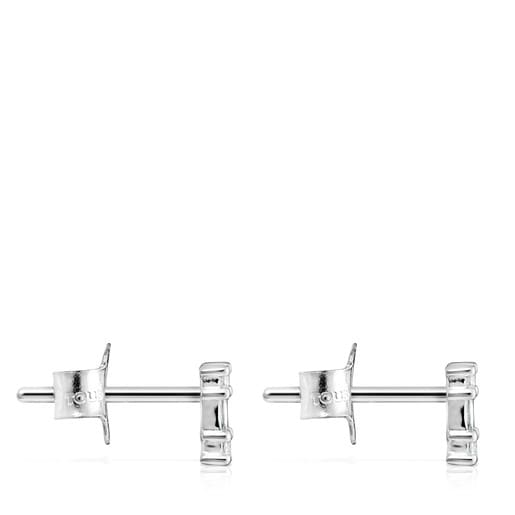 Riviere Earrings in White gold with Diamonds