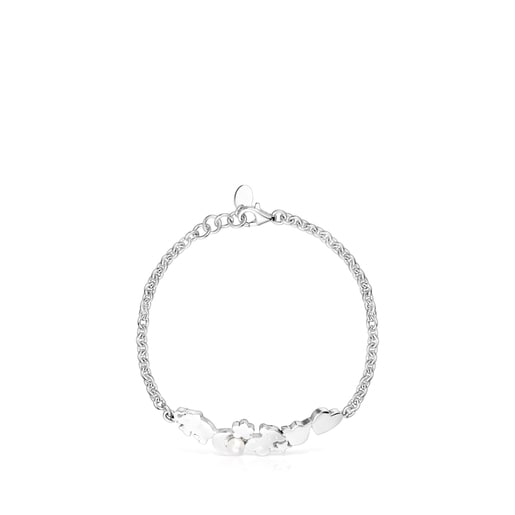 Nocturne Bracelet Silver motifs with Pearl