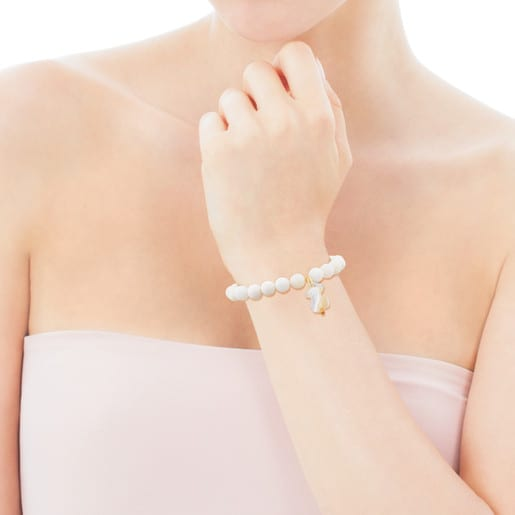 Silver TOUS Nacars Bracelet with Mother-of-Pearl