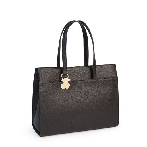 Black colored Leather Rosenda City bag
